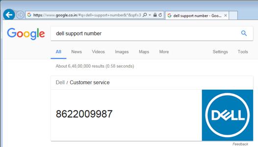 Adware vervangt nummer Dell en Norton in zoekresultaten