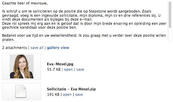sollicitatie mail Nederlandse sollicitatiemail bevat GandCrab ransomware   Security.NL
