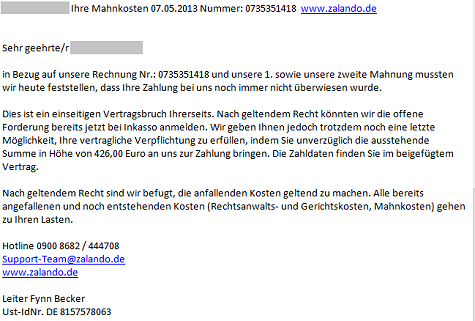 zalando factuur Valse rekening van Zalando bevat malware   Security.NL